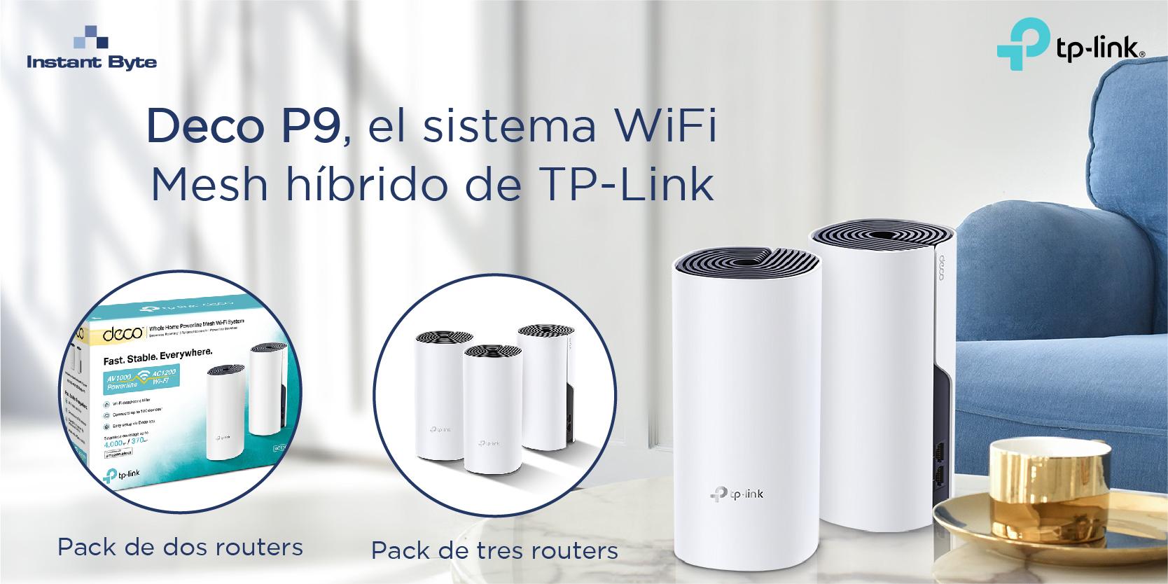 Deco P9 de TP-Link, el sistema WiFi Mesh híbrido para cubrir grandes superficies