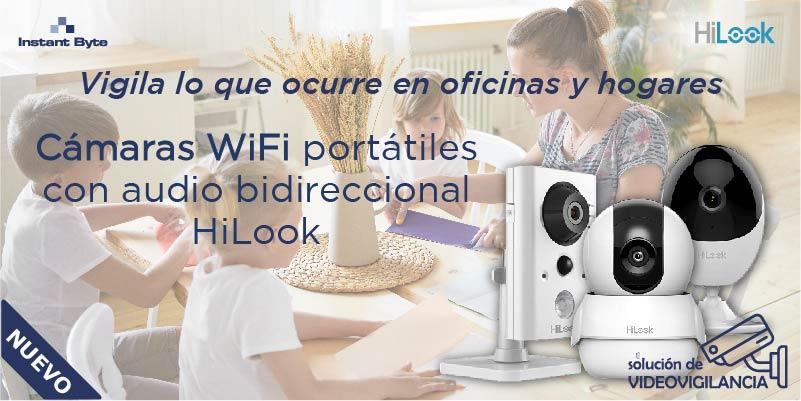 Vigila lo que ocurre en oficinas y hogares con las cámaras WiFi portátiles con audio bidireccional HiLook