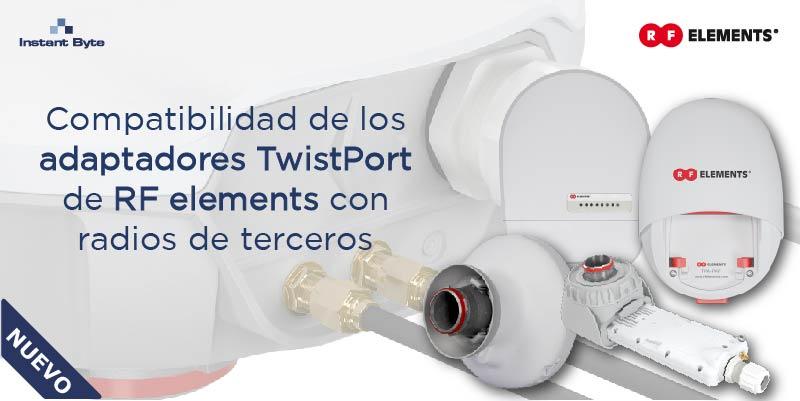 ¿Qué adaptador necesito para mi antena? Compatibilidad de los adaptadores TwistPort de RF elements con radios de terceros