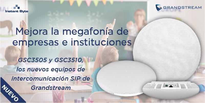 Mejora la megafonía de empresas e instituciones: GSC3505 y GSC3510