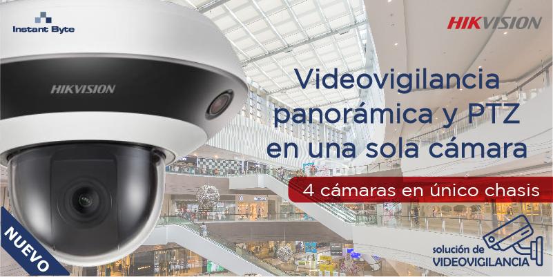Videovigilancia panorámica y PTZ en una sola cámara