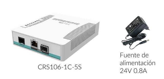 CRS106-1C-5S-mikrotik-incluye