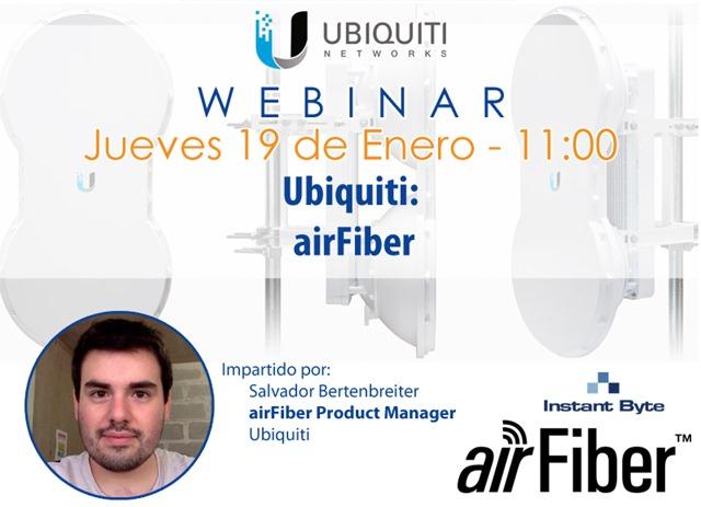 ubiquiti airfiber webinar 19 enero 2017 redes y webinar